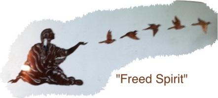 freed spirit, metal sculpture, utah