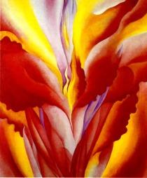 red canna, by georgia o'keefe
