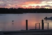 tidal river sunset