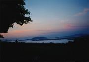 sunset with mist