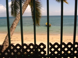 gate to St Lucia beach