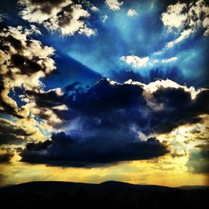 wild summer sky in VT