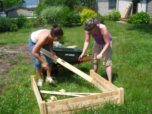 making garden beds 1