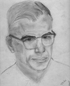 pencil sketch of my dad