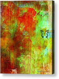 abstract painting of woman changing