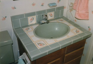 newly tiled sink