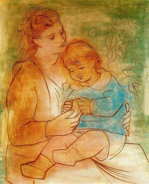 'mother and child 1922' by pablo picasso